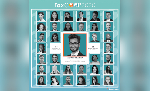 An image of the TaxCOOP2020 Leaders of the Future, including Dr Leopoldo Parada. October 2020