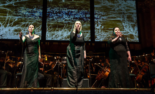 Opera's North's The Ring, performed at Leeds Town Hall. Picture by Clive Barda. April 2020