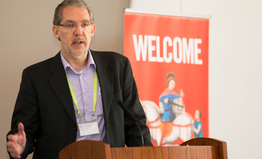 International Medieval Congress (IMC) director, Dr Axel Muller, at a welcome address for IMC 2016. Uploaded March 2021.