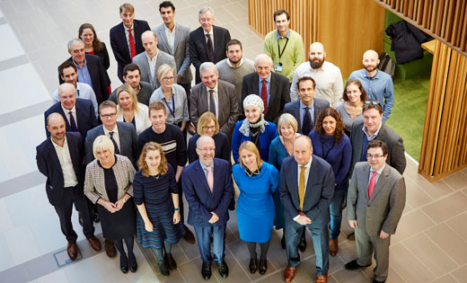 The Cancer Research UK delegates with senior leaders and cancer researchers from Leeds. January 2020