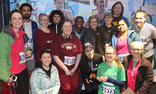 Graduates from a previous Couch to 5K programme. January 2020