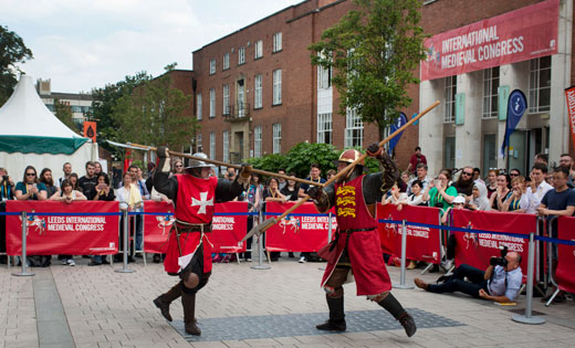 Knights fighting at Medieval Congress July 2017