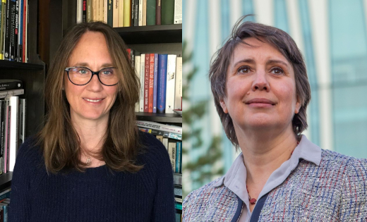 Profile pictures of Professors Kristyn Gorton and Hazel Hutchison. Uploaded April 2021.