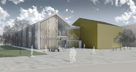 A computer-generated image of how the new research and experimental facilities will look. Image: Atkins Architecture (Leeds). March 2019