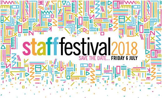 Staff Festival save the date logo June 2018