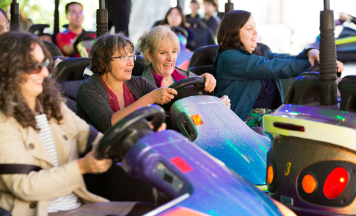 The dodgems will make a welcome return to this year's Staff Festival. May 2019