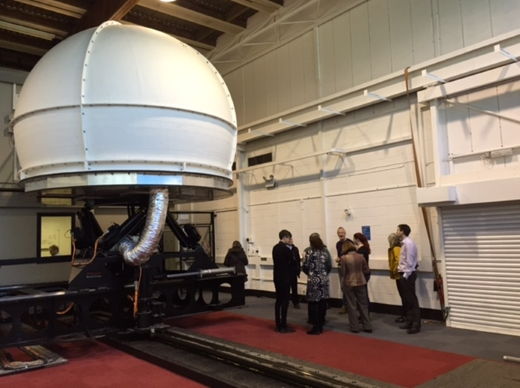 Photo of the outside of the ITS Simulator